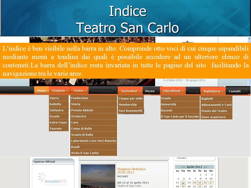 DOL DIPLOMA ON LINE – POLITECNICO DI MILANO - DOL DIPLOMA ON LINE – POLITECNICO DI MILANO Indice Teatro San Carlo Lindice è ben visibile nella barra in alto.