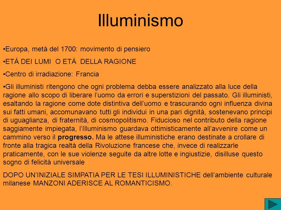 Illuminismo Europa, metà del 1700: movimento di pensiero ETÁ DEI LUMI O ETÁ DELLA RAGIONE Centro di irradiazione: Francia Gli illuministi ritengono ch