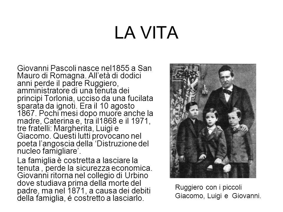 Ottiene comunque la maturità classica a Rimini e, grazie a una borsa di studio, frequenta lUniversità di Bologna dove segue i corsi del poeta Giosuè Carducci.