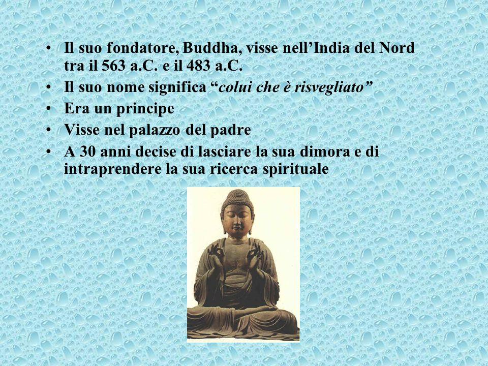 Il suo fondatore, Buddha, visse nellIndia del Nord tra il 563 a.C. e il 483 a.C. Il suo nome significa colui che è risvegliato Era un principe Visse n