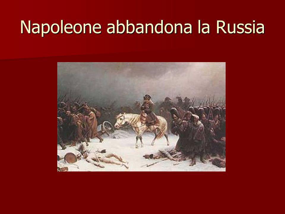Napoleone abbandona la Russia