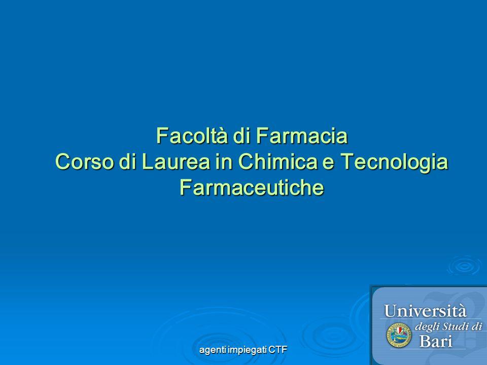2 Agenti fisici e chimici nel controllo dei microrganismi Agenti fisici e chimici nel controllo dei microrganismi agenti impiegati CTF