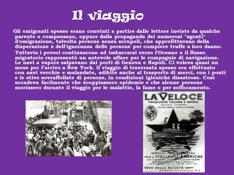 Gli emigranti spesso erano convinti a partire dalle lettere inviate da qualche parente o compaesano, oppure dalla propaganda dei numerosi