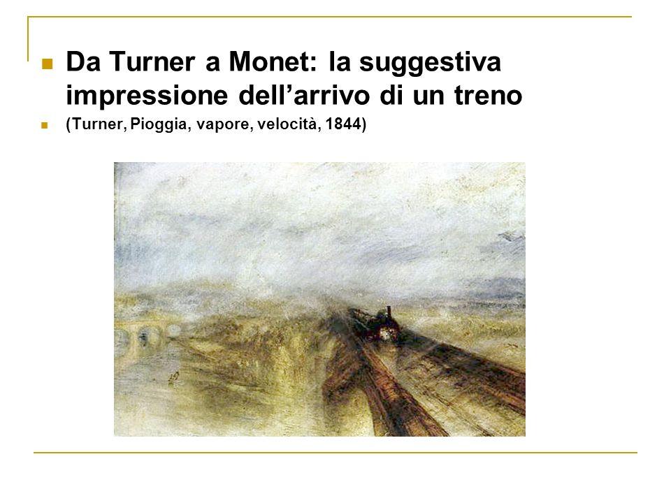 Qui Turner vuole trasmettere lidea della velocità e lo fa utilizzando la luminosità, inserendo forme roteanti che trasmettono lidea di un vortice, il vortice dellaria che si forma al passaggio del veloce convoglio