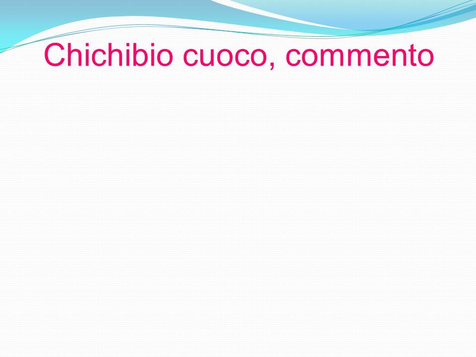 Chichibio cuoco, commento