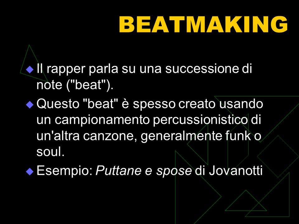 BEATMAKING Il rapper parla su una successione di note (