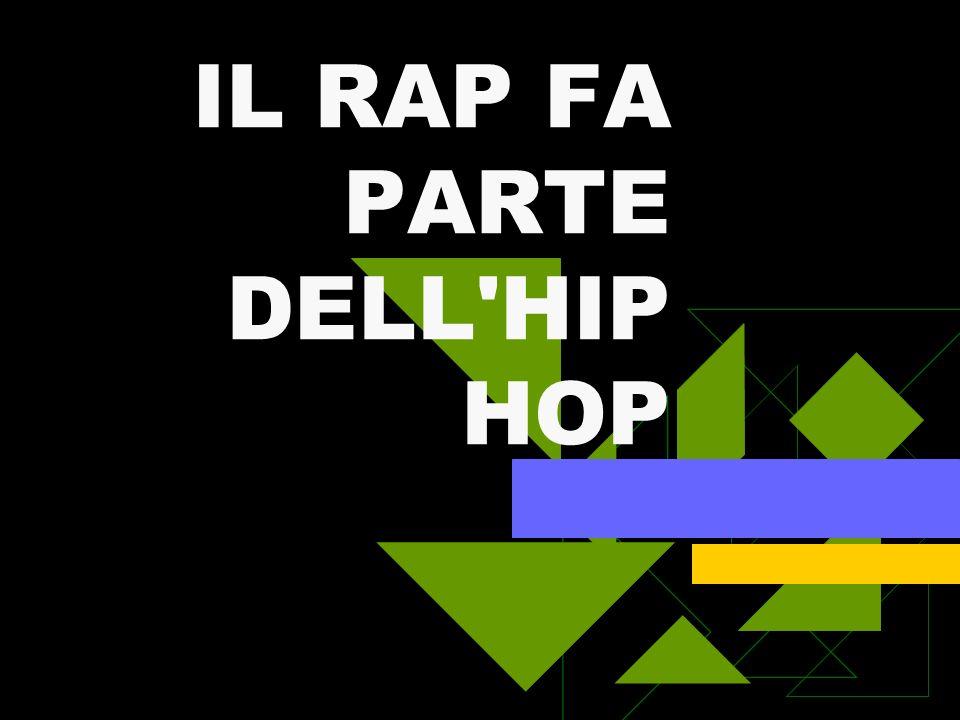 RAP IN ITALIA Gli anni Novanta sono stati la culla per il rap italiano