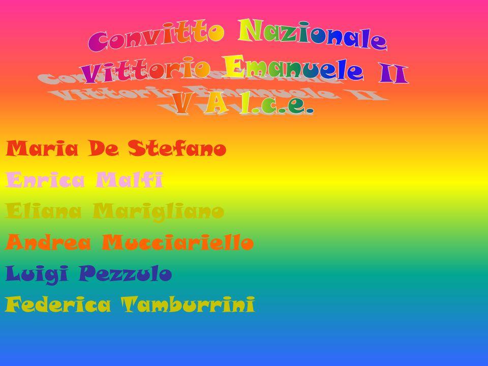 Maria De Stefano Enrica Malfi Eliana Marigliano Andrea Mucciariello Luigi Pezzulo Federica Tamburrini