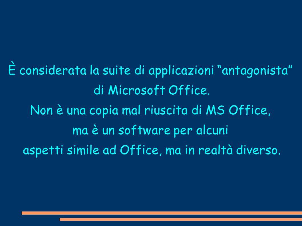 È considerata la suite di applicazioni antagonista di Microsoft Office. Non è una copia mal riuscita di MS Office, ma è un software per alcuni aspetti