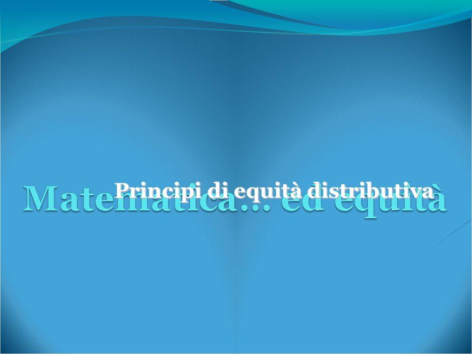 Principi di equità distributiva