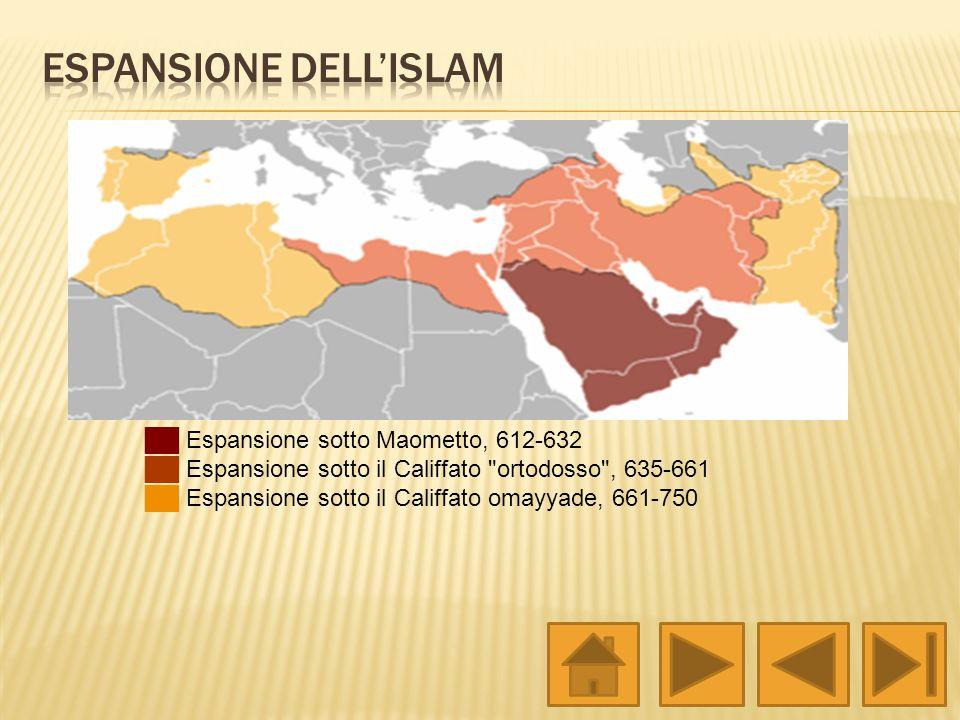 Espansione sotto Maometto, 612-632 Espansione sotto il Califfato
