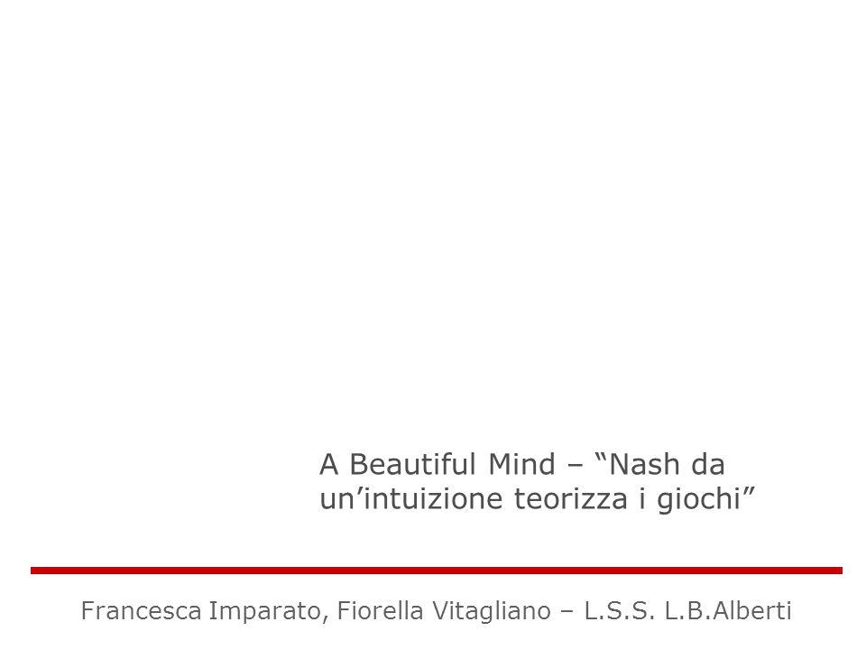 A Beautiful Mind – Nash da unintuizione teorizza i giochi Francesca Imparato, Fiorella Vitagliano – L.S.S. L.B.Alberti