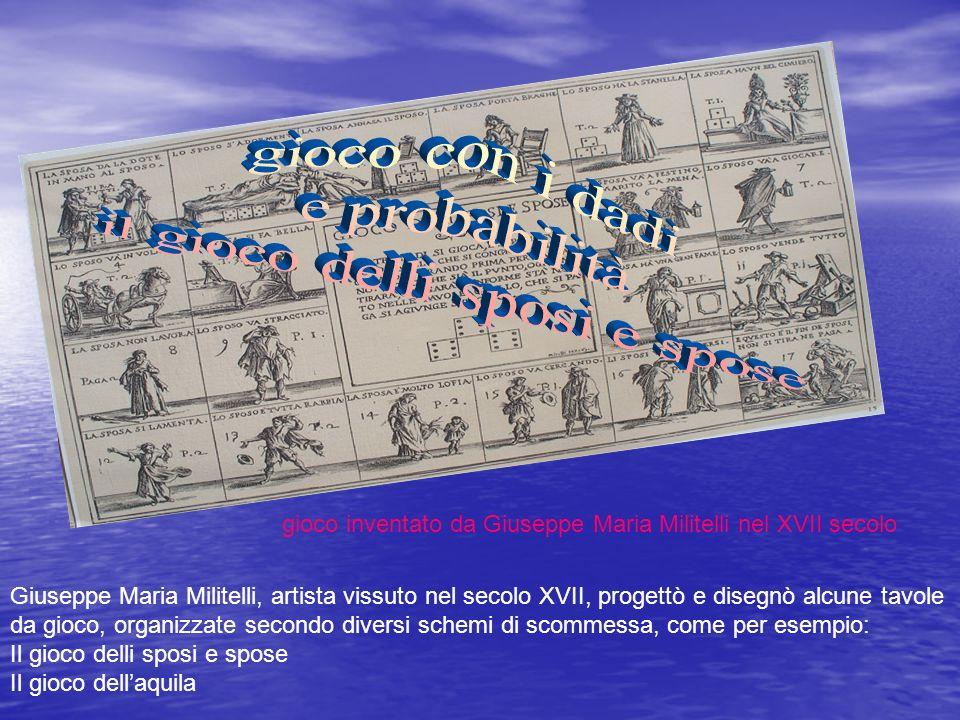 Giuseppe Maria Militelli, artista vissuto nel secolo XVII, progettò e disegnò alcune tavole da gioco, organizzate secondo diversi schemi di scommessa,
