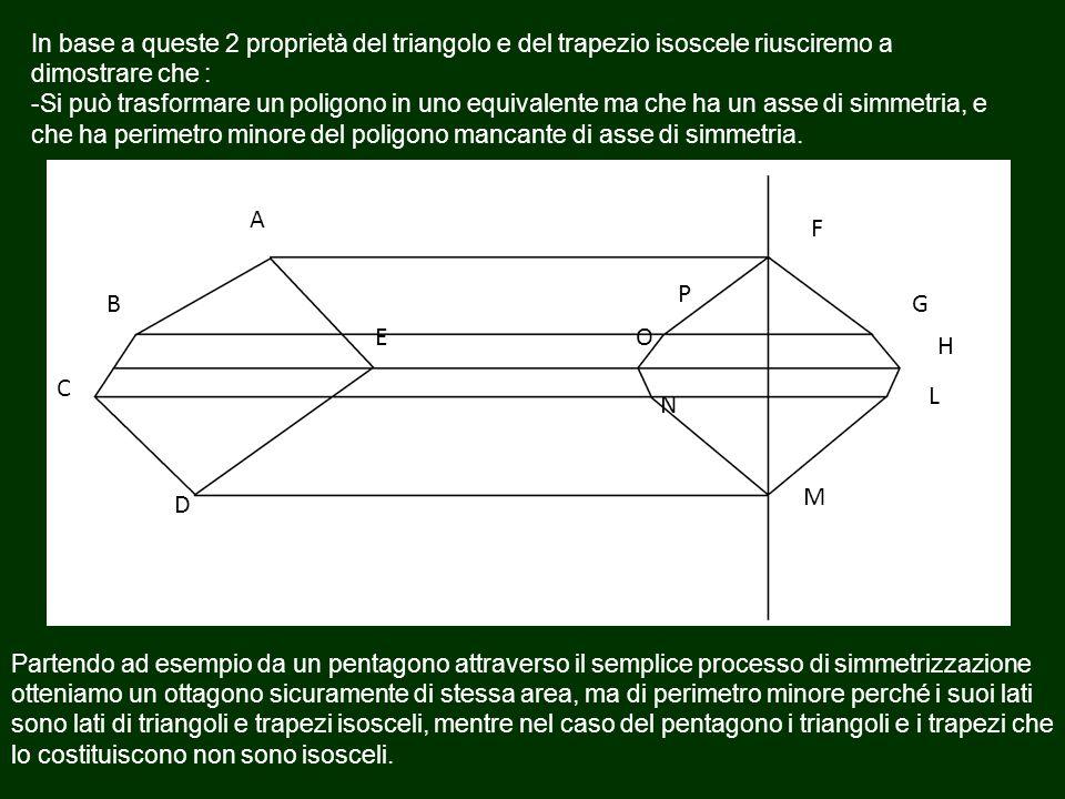 In base a queste 2 proprietà del triangolo e del trapezio isoscele riusciremo a dimostrare che : -Si può trasformare un poligono in uno equivalente ma