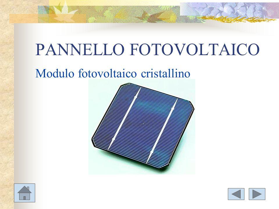 PANNELLO FOTOVOLTAICO Modulo fotovoltaico cristallino