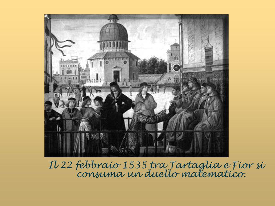 Il 22 febbraio 1535 tra Tartaglia e Fior si consuma un duello matematico.