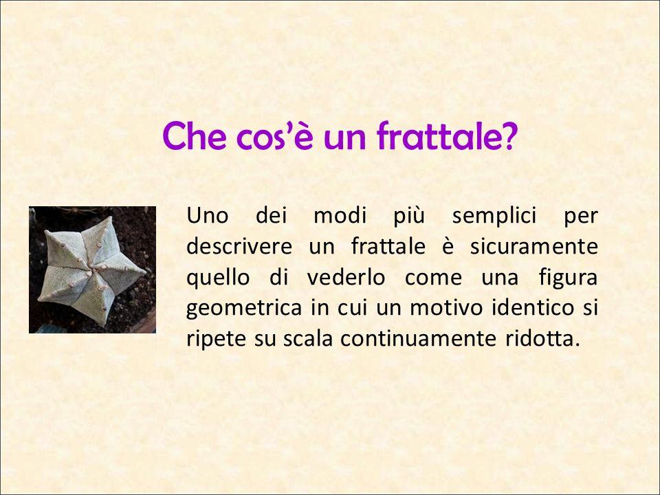 Una teoria recente Benoît Mandelbrot è il padre della teoria dei frattali poiché, essendosi posto il problema di analizzare queste figure, fu in grado di individuarne le caratteristiche.
