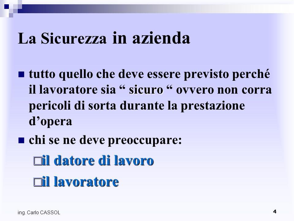 ing. Carlo CASSOL 165 6 - La Segnaletica 6 - La Segnaletica azzurro