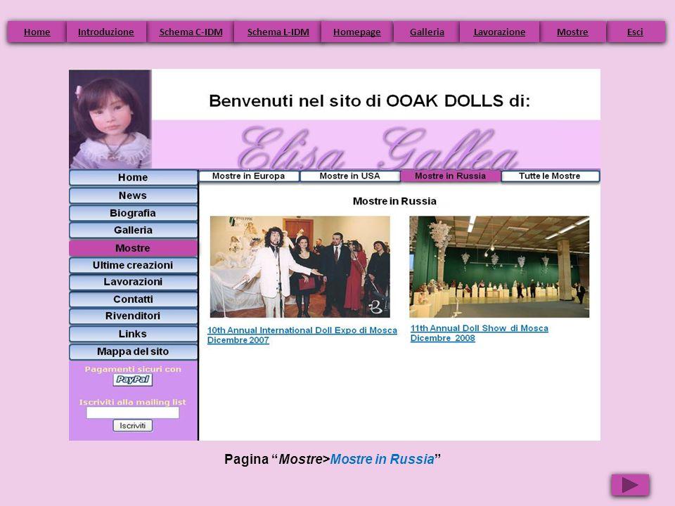 Pagina Mostre>Mostre in Russia Home Schema C-IDM Schema L-IDM Homepage Esci Galleria Mostre Introduzione Lavorazione