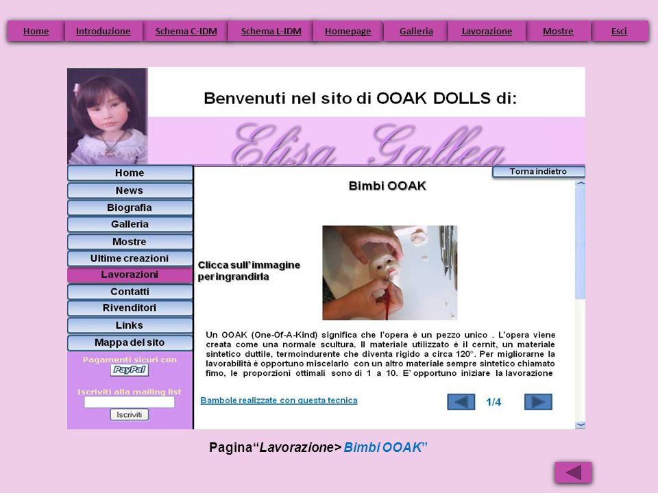 PaginaLavorazione> Bimbi OOAK Home Schema C-IDM Schema L-IDM Homepage Esci Galleria Mostre Introduzione Lavorazione