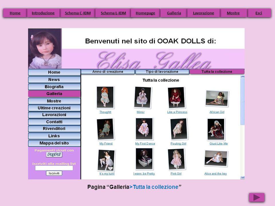 Pagina Galleria>Tutta la collezione Home Schema C-IDM Schema L-IDM Homepage Esci Galleria Mostre Introduzione Lavorazione