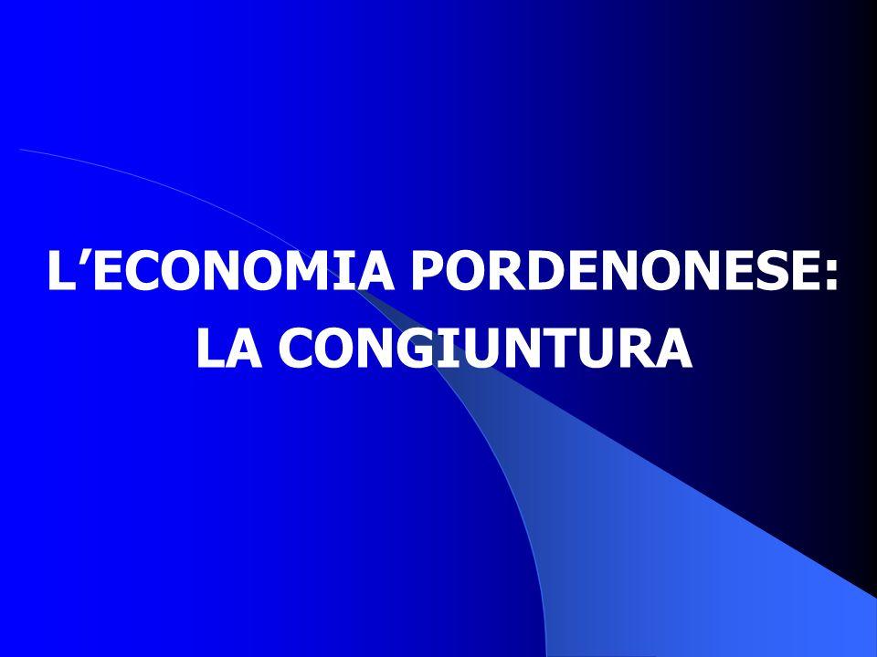 LECONOMIA PORDENONESE: LA CONGIUNTURA