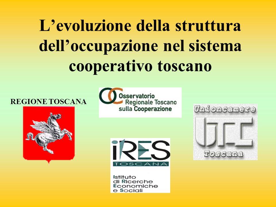 REGIONE TOSCANA Levoluzione della struttura delloccupazione nel sistema cooperativo toscano