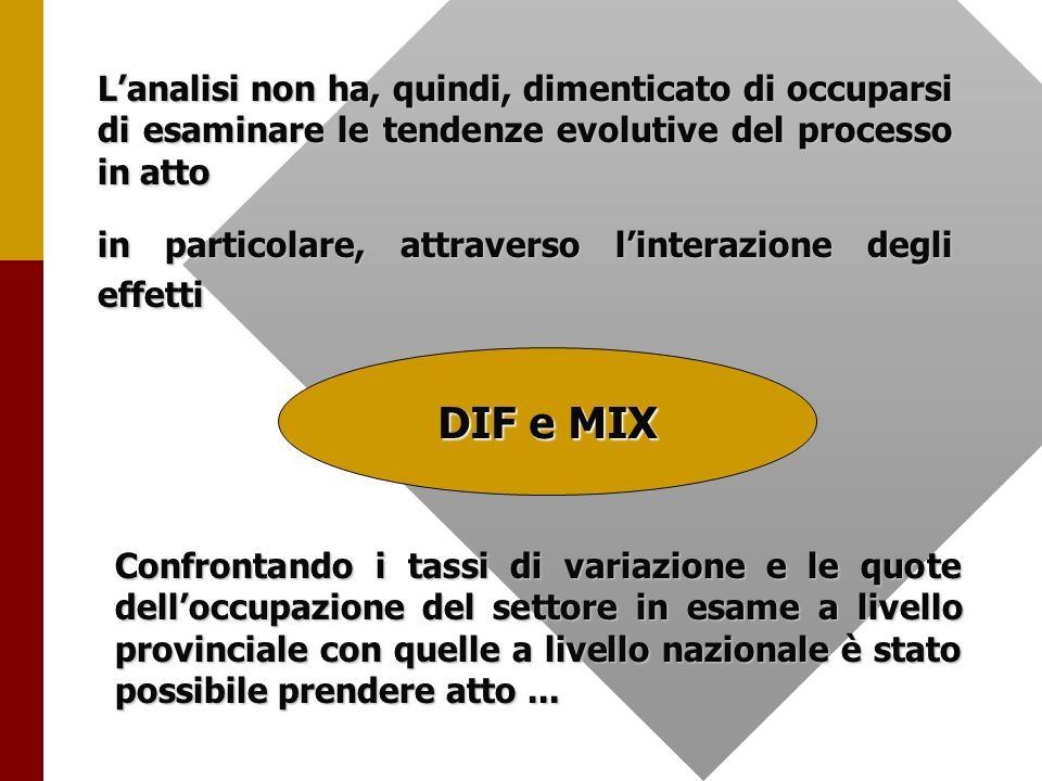 … grado di integrazione interna dei sistemi locali.