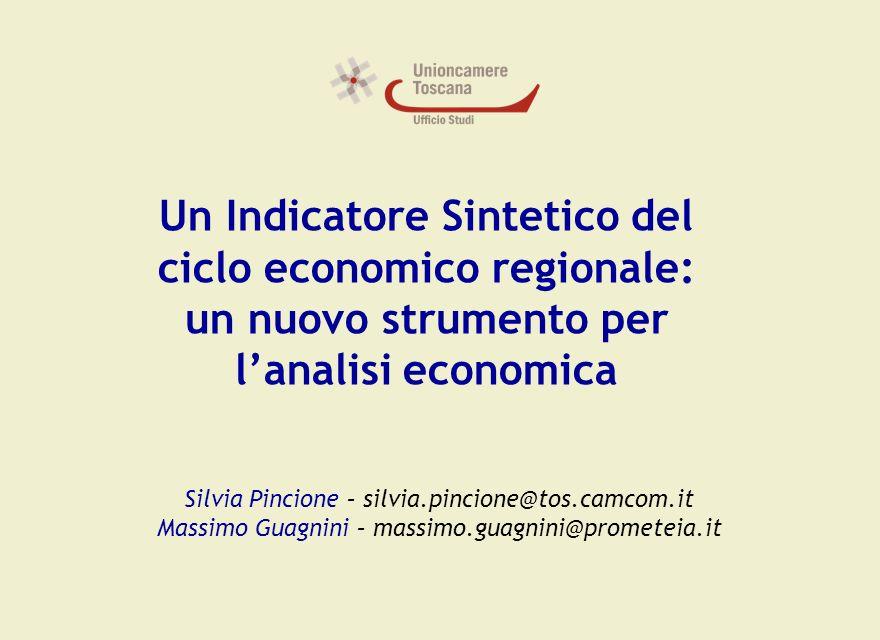 Titolo Ufficio Studi 1.Obiettivi 2.Gli Indicatori Sintetici 3.La costruzione di un Indicatore Sintetico per la Regione Toscana 4.Analisi ed Interpretazione dei Risultati Un indicatore sintetico del ciclo economico della Regione Toscana