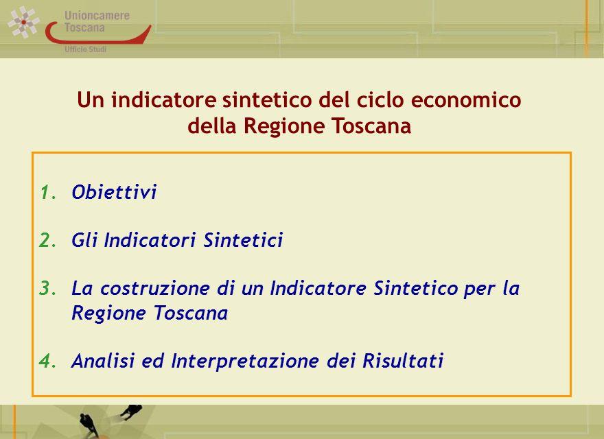 Titolo Ufficio Studi 1.Obiettivi 2.Gli Indicatori Sintetici 3.La costruzione di un Indicatore Sintetico per la Regione Toscana 4.Analisi ed Interpreta
