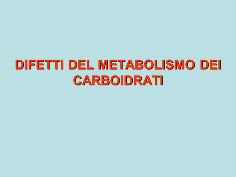 DIFETTI DEL METABOLISMO DEI CARBOIDRATI