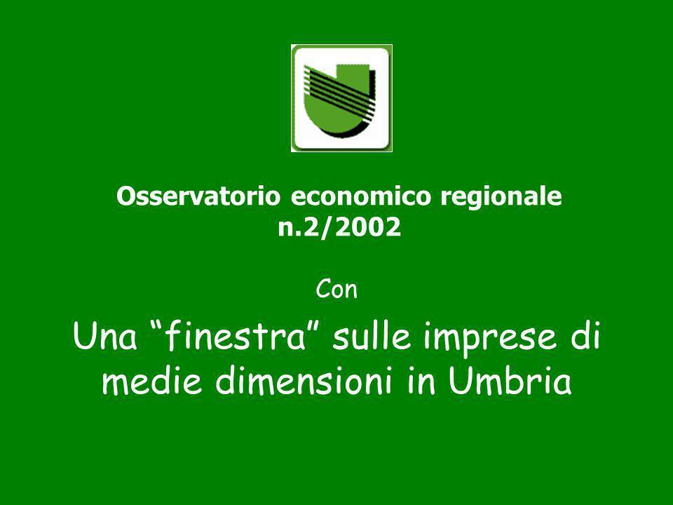 Osservatorio economico regionale n.2/2002 Con Una finestra sulle imprese di medie dimensioni in Umbria