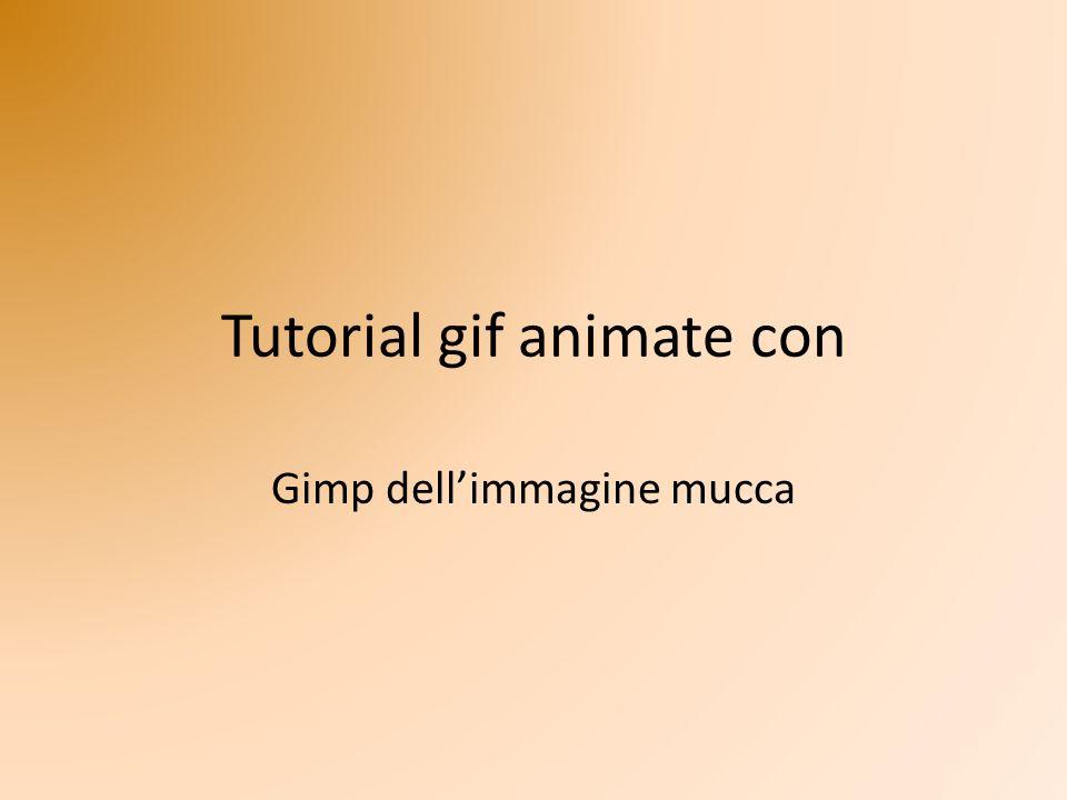 Tutorial gif animate con Gimp dellimmagine mucca