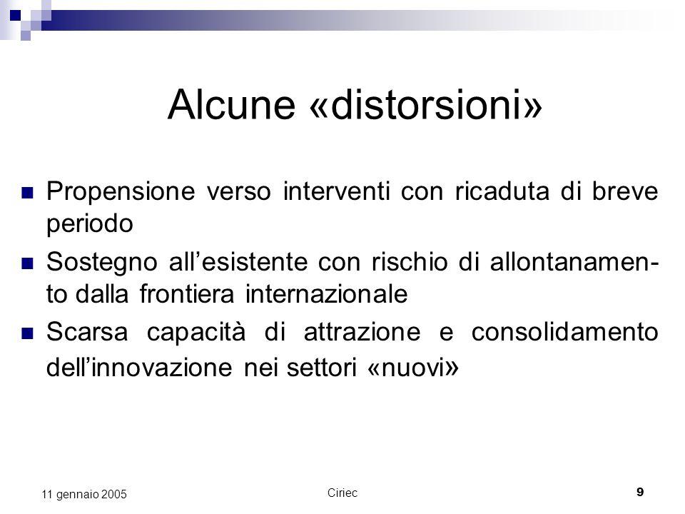 Ciriec10 11 gennaio 2005 Sintesi La Toscana ha seguito lEuropa sulla strada dellapproccio «sistemico» allinnovazione….