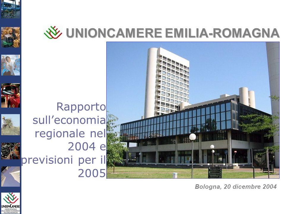 Rapporto sullEconomia Regionale 2004 e Previsioni 2005 UNIONCAMERE EMILIA-ROMAGNA Bologna, 20 dicembre 2004 Rapporto sulleconomia regionale nel 2004 e