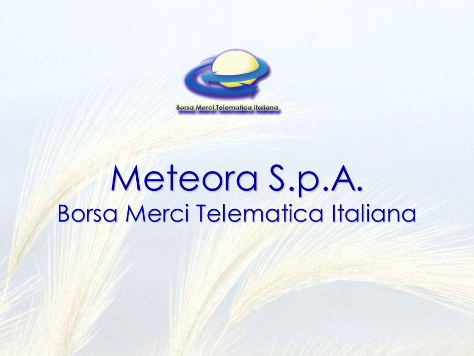 Meteora S.p.A. Borsa Merci Telematica Italiana