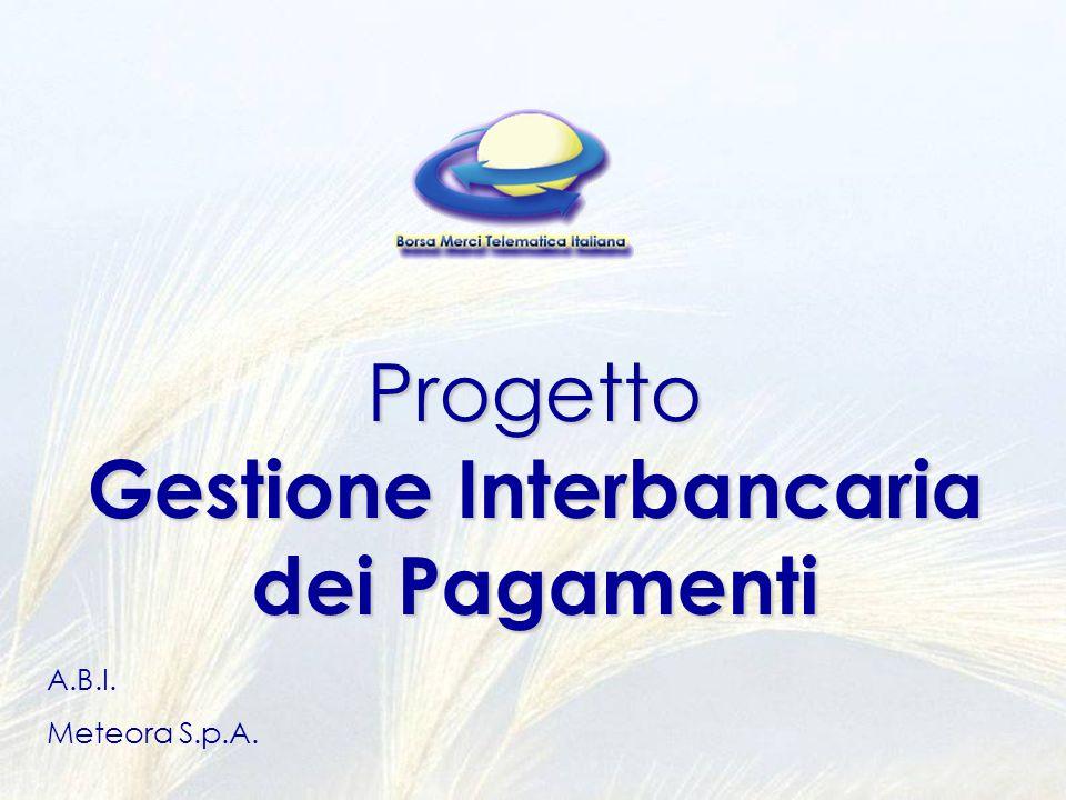 Progetto Gestione Interbancaria dei Pagamenti A.B.I. Meteora S.p.A.