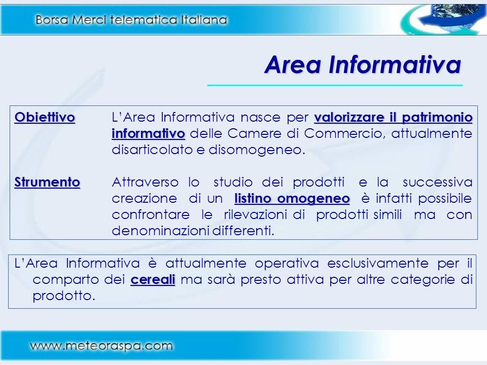 Area Informativa Obiettivovalorizzare il patrimonio informativo Obiettivo LArea Informativa nasce per valorizzare il patrimonio informativo delle Came