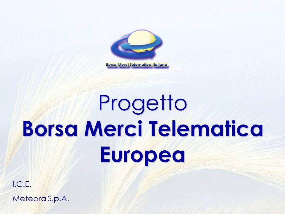 Progetto Borsa Merci Telematica Europea I.C.E. Meteora S.p.A.