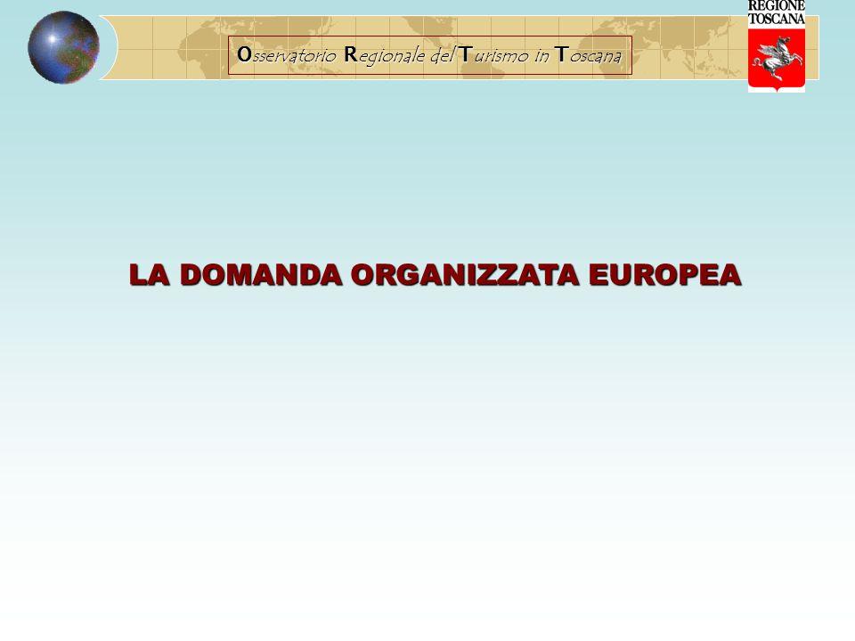 O sservatorio R egionale del T urismo in T oscana LA DOMANDA ORGANIZZATA EUROPEA