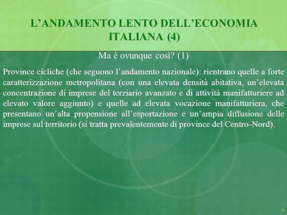 5 LANDAMENTO LENTO DELLECONOMIA ITALIANA (4) Ma è ovunque così.