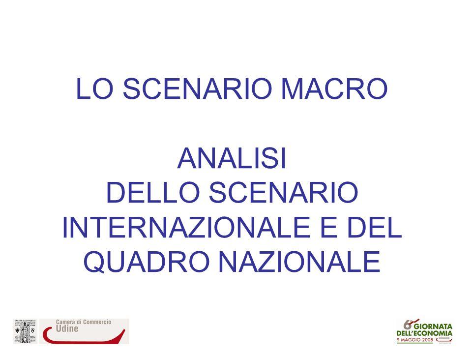 LO SCENARIO MACRO ANALISI DELLO SCENARIO INTERNAZIONALE E DEL QUADRO NAZIONALE