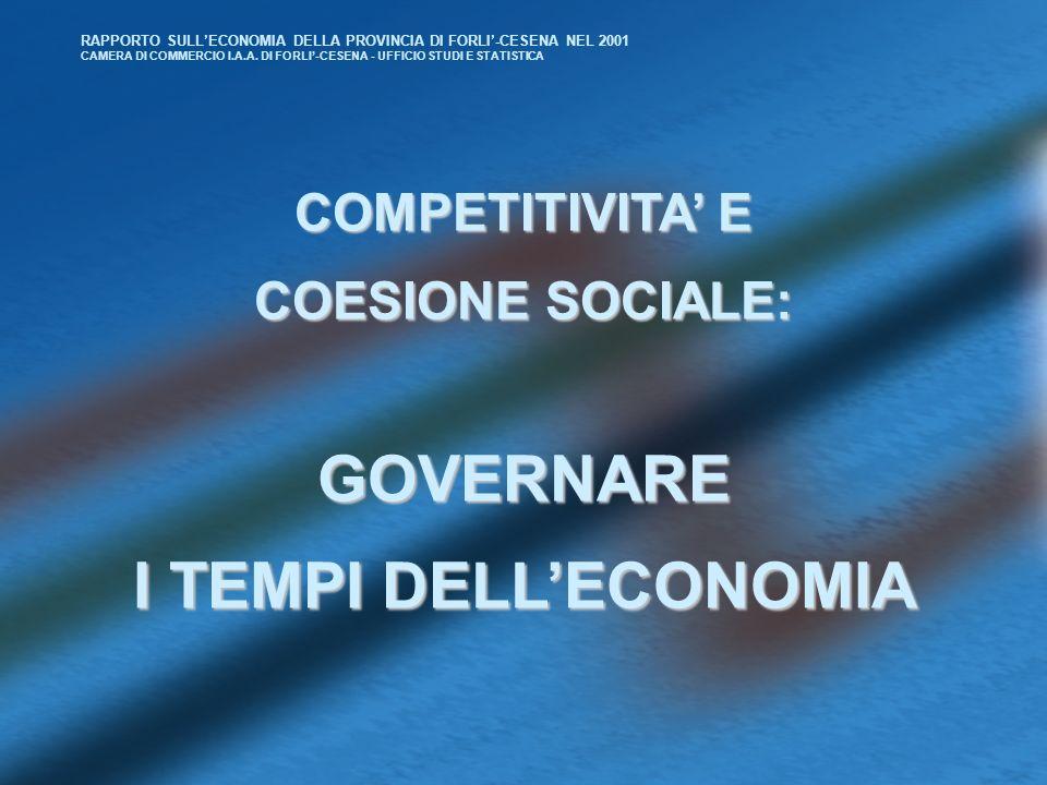 RAPPORTO SULLECONOMIA DELLA PROVINCIA DI FORLI-CESENA NEL 2001 CAMERA DI COMMERCIO I.A.A.