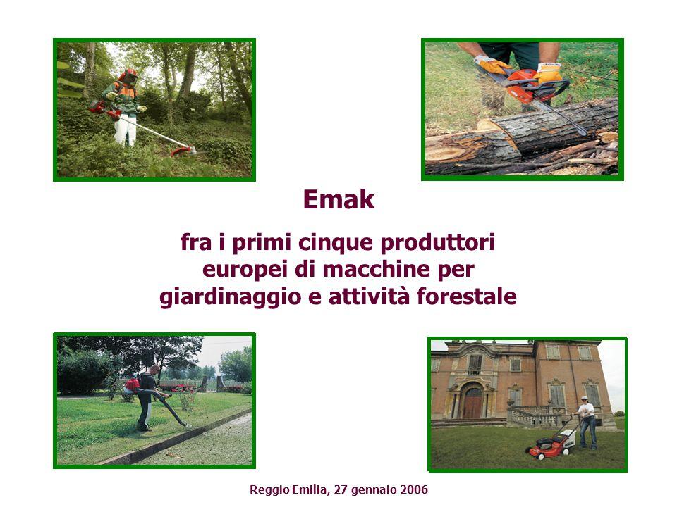 Emak fra i primi cinque produttori europei di macchine per giardinaggio e attività forestale Reggio Emilia, 27 gennaio 2006