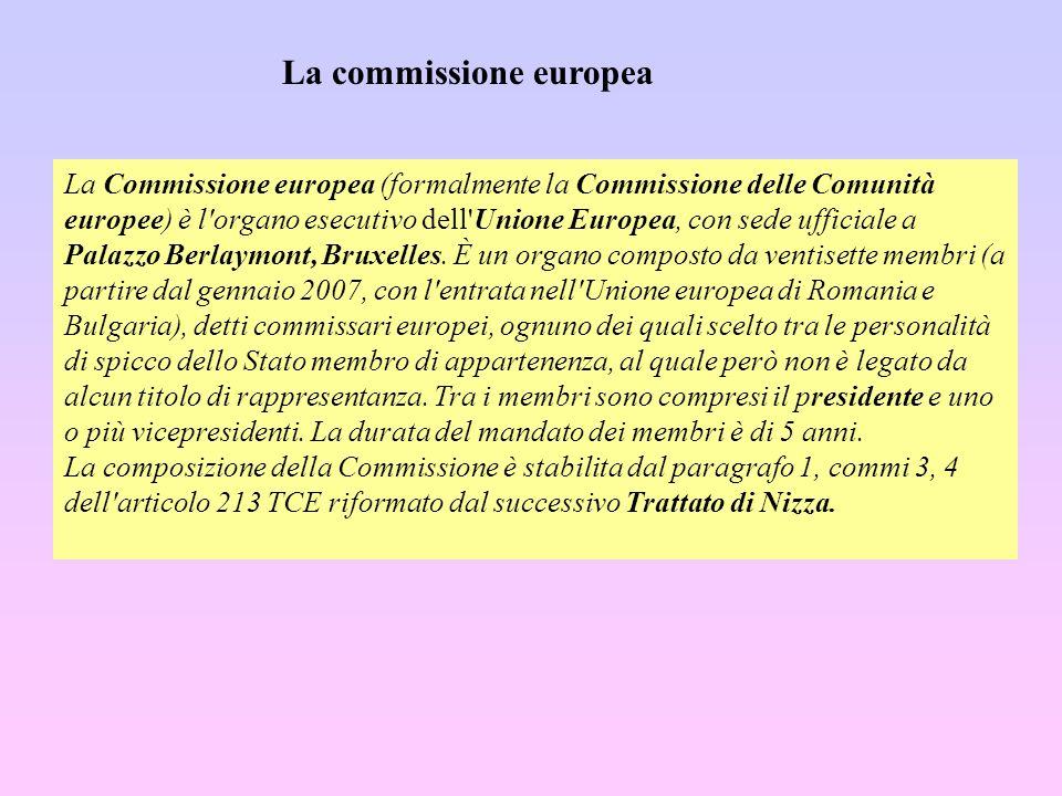 La Commissione europea (formalmente la Commissione delle Comunità europee) è l'organo esecutivo dell'Unione Europea, con sede ufficiale a Palazzo Berl