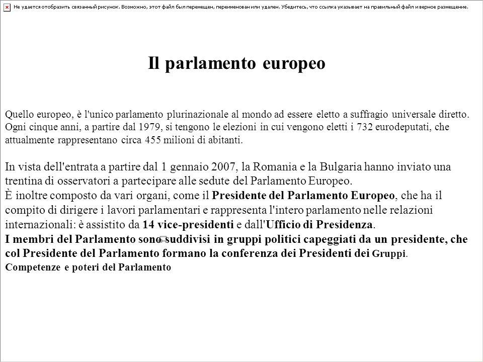 Il parlamento europeo Quello europeo, è l'unico parlamento plurinazionale al mondo ad essere eletto a suffragio universale diretto. Ogni cinque anni,