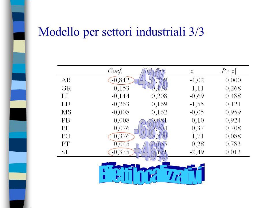 Modello per settori industriali 3/3