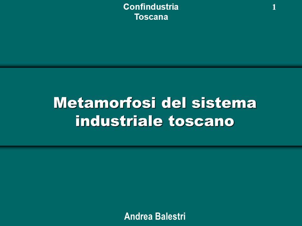 Confindustria Toscana 1 Metamorfosi del sistema industriale toscano Andrea Balestri