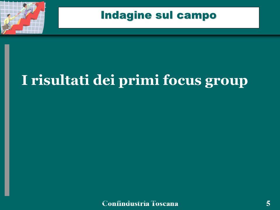 Confindustria Toscana 5 Indagine sul campo I risultati dei primi focus group