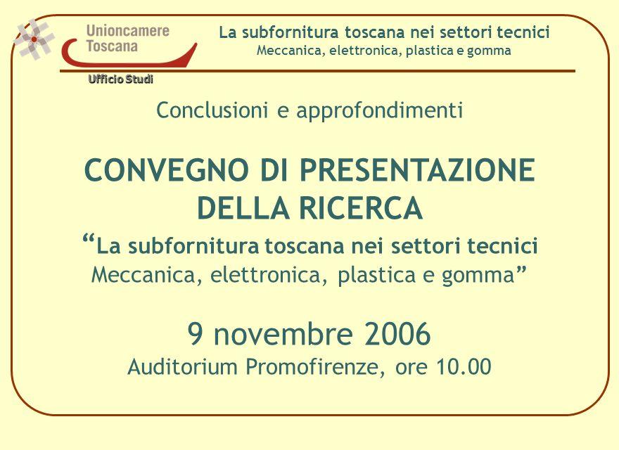 Grazie per lattenzione Cristina Marullo Unioncamere Toscana - Ufficio Studi cristina.marullo@tos.camcom.it cristina.marullo@tos.camcom.it Ufficio Studi